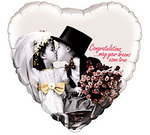 Kim Anderson White Heart Wedding Balloon