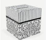 Black & White Damask Card Box