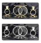 Double Ring Unity Candleholder Set - 2 Colors