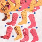 Western Square Dance Embossed Confetti