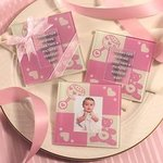 Baby Girl Glass Photo Coaster