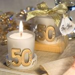 Golden Anniversary Candle Favor