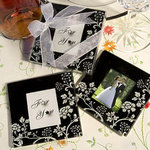 Distinctive Floral Design Photo Coaster Favor