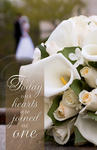 Joined as One Calla & Rose Blank Wedding Programs - Pkg 100