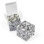 Black & White Favor Boxes - Pkg 12