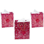 Medium Red Bandanna Gift Bags - Pkg 12