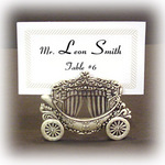 Pewter Cinderella Coach Place Card Holder