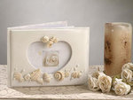 Seaside Jewels IVORY Small Photo Guest Book