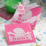 Pink Huggable Baby Design Coaster