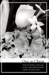 One in Christ Black & White Blank Wedding Programs - Pkg 100