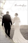 Love Endures Forever Bride & Groom Blank Wedding Programs - Pkg 100
