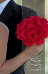 Marry My Friend Red Rose Bouquet Blank Wedding Programs - Pkg 100