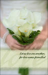 Love One Another Calla Lily Blank Wedding Programs - Pkg 100