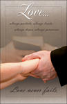 Love...Bride & Groom Hands Blank Wedding Programs - Pkg 100