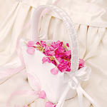 Flower Girl Basket Tote - White or Ivory