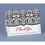 Damask Thank You Cards - Pkg 50