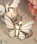 Butterfly Stain Glass Design Candleholder