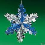 Small Metallic Snowflake Decorations