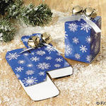 Snowflake Favor Box with Bells & Ribbon - Pkg 12