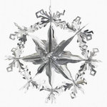 Large Silver Snowflake Decorations - Pkg 3