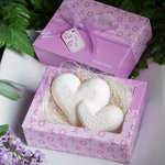 Double Heart Design Guest Soap Favor