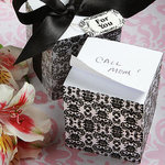 Damask Design Memo Cube Favor