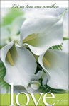 Love Triple Calla Lily Blank Wedding Programs - Pkg 100