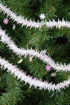 15 Foot Snowflake Tinsel Garland