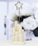 Ivory Castle and Star Placecard Holders - Set of 12