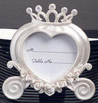 White Resin Coach Place Card Frame