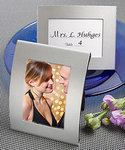 Matte Silver Metal Place Card/Photo Frame
