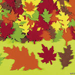 Fall Felt Leaves - Pkg 100