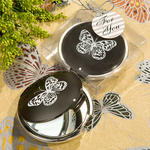 Elegant Reflections Collection Butterfly Mirror Compact Favor