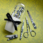 Pretty Damask Design Manicure Set