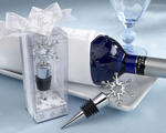 Snowflake Bottle Stopper in Shimmering Gift Box