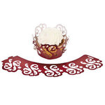 Red Laser Cut Cupcake Collars - Pkg 24