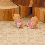 Baby Boy or Girl Resin Figurine - Pkg 12