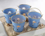 Palm Breezes Beach Pail Tealight Holder – Set of 4