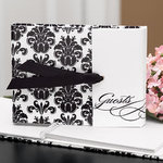 Black and White Gatefold Guest Book