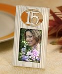 Pearl White Sweet 15 Favor Frame