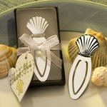 Chrome Seashell Bookmark Favor