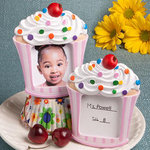 Cupcake picture frame/placecard holder (Pink/Blue)