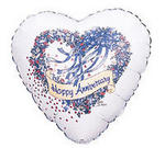 Happy Anniversary Heart Mylar Balloon
