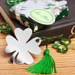Shamrock/Four Leaf Clover Design Bookmark Favor