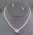 Venice Pearl & Crystal Flower Girl Necklace Set