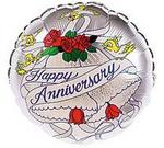 Happy Anniversary Bells & Birds Mylar Balloon