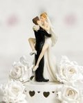 Funny Sexy Wedding Bride and Groom Cake Topper Figurine