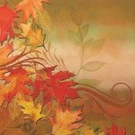 Autumn Aria Dinner Napkins - Pkg 16