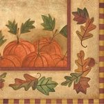 Homespun Harvest Dinner Napkins - Pkg 16