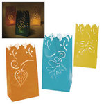 12 Autumn Leaves Luminary Bags